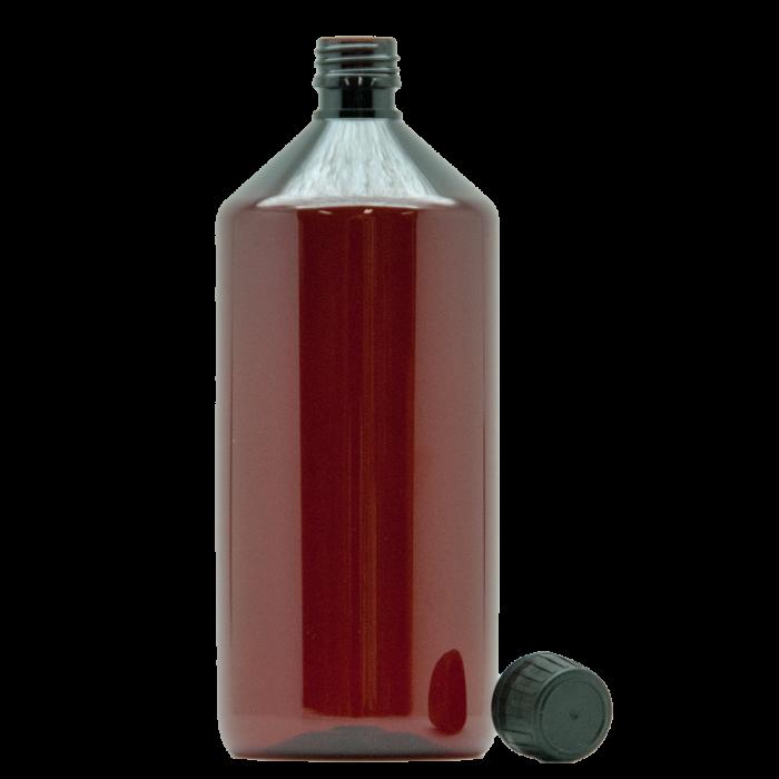 Braunflasche mit Verschluss 1000ml
